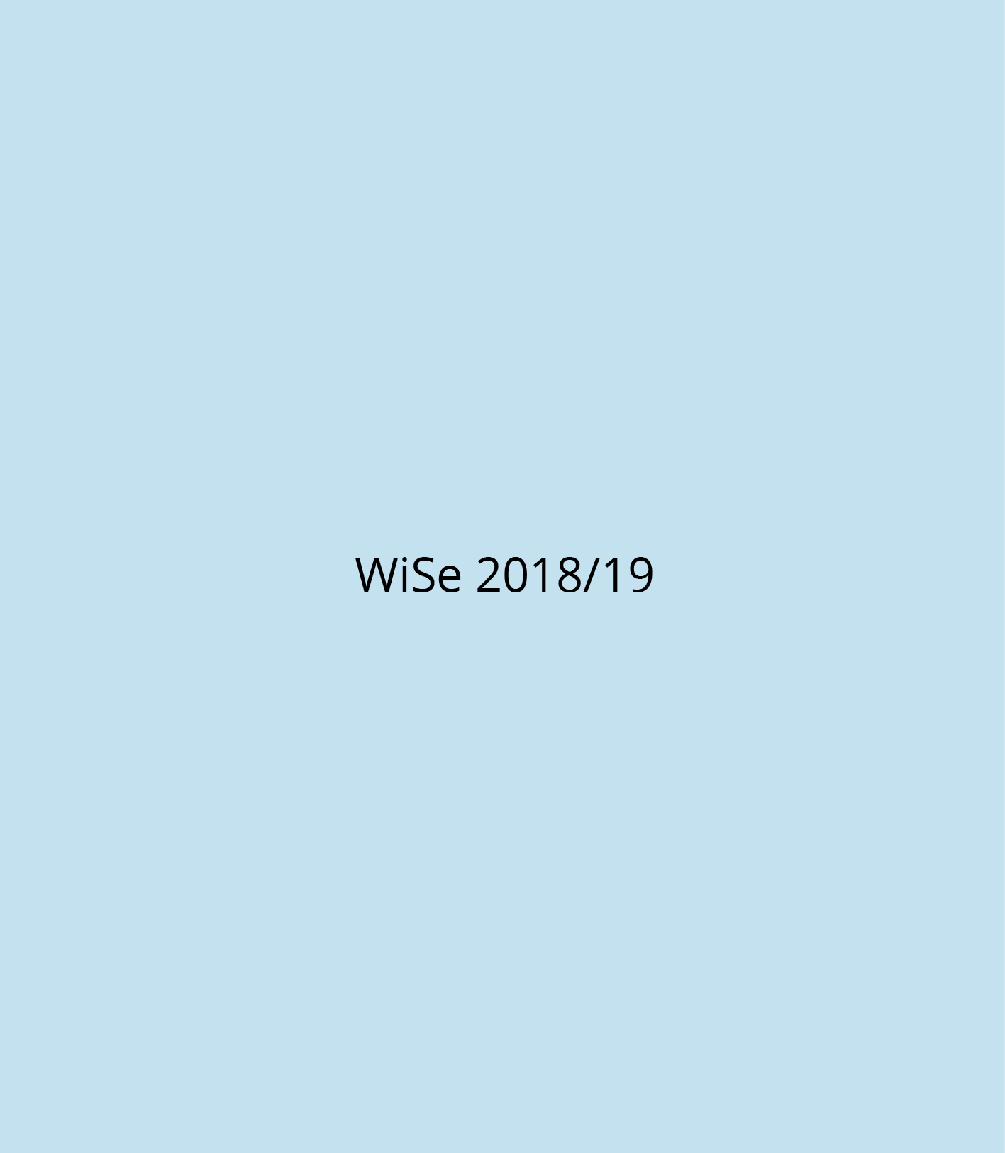 WiSe 2018-19