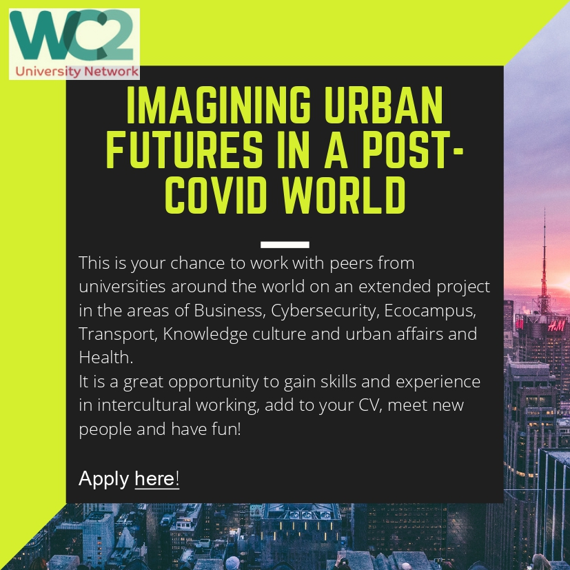 WC2 World Cities University Network – Online Workshop Imagining Urban Futures in a Post-COVID World